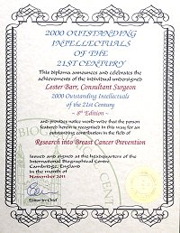 Outstanding Intellectuals of 21st Century Certificate